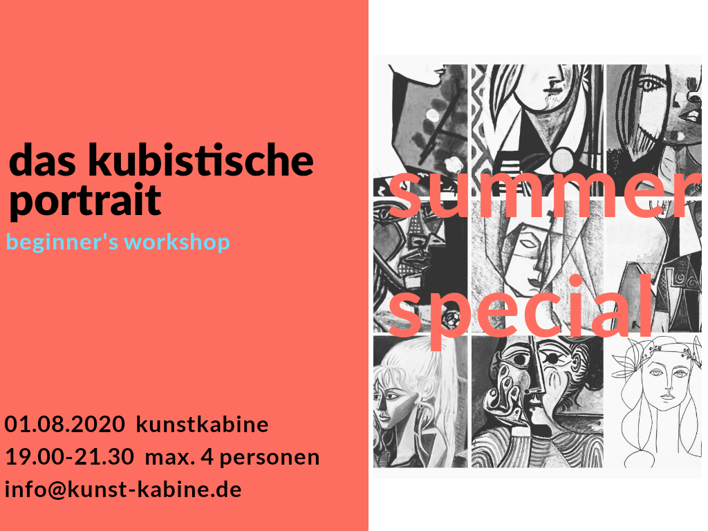 das kubistische portrait - workshop in der kunstkabine